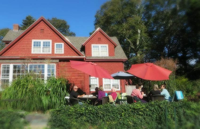 Patio Dining at Woods Hole